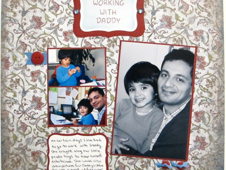 Scrapbook Sunday: Working With Daddy