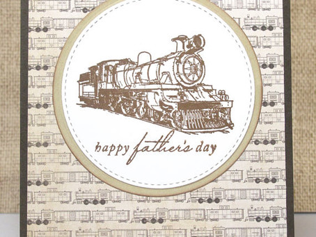 Train Father's Day Card