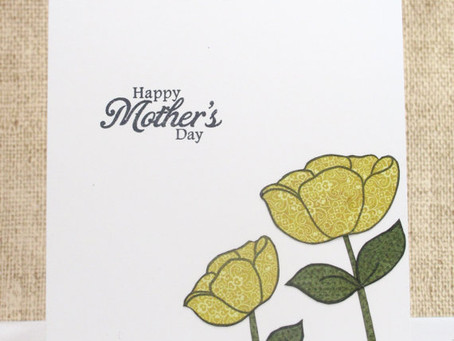Mother's Day Yellow Flowers Card