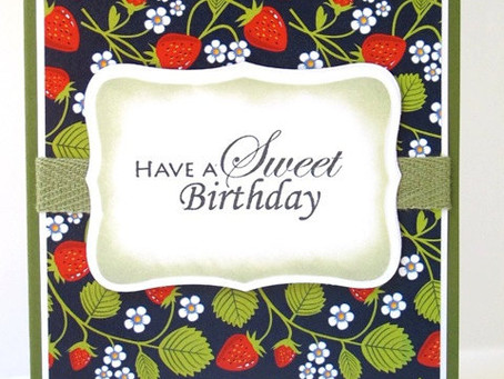 Simple Strawberry Birthday Card