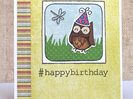 #HappyBirthday Owl Card