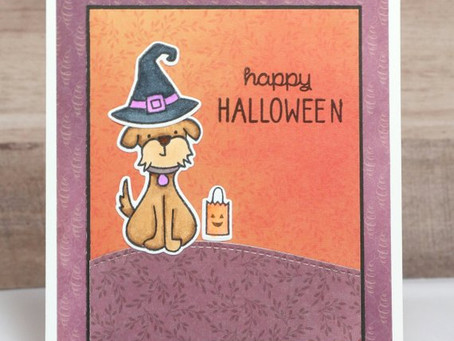 Dog Halloween Card