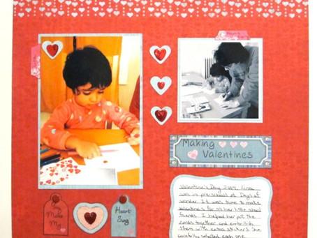 Scrapbook Sunday: Making Valentines