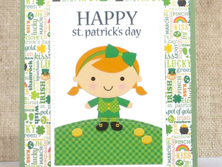 St. Patrick's Day Girl Card
