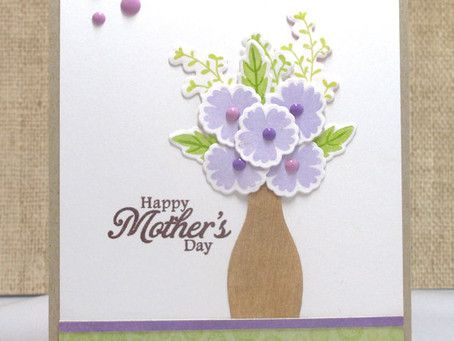 Mother's Day Purple Flowers Card
