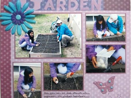 Scrapbook Sunday: Garden Adventure