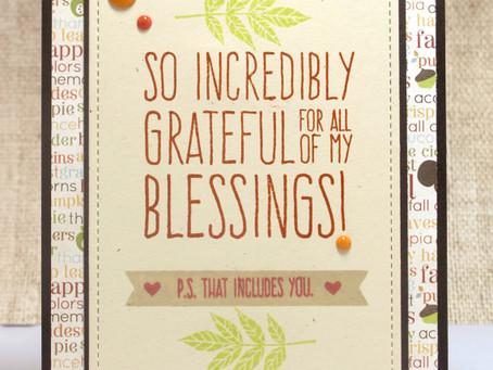 Grateful for Blessings Card