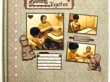 Scrapbook Sunday: Baking Together