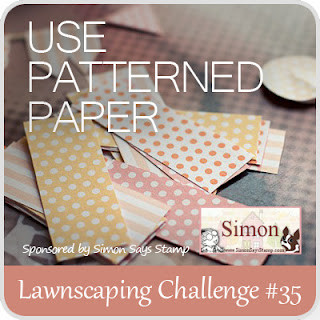 Lawnscaping Challenge #35: Patterned Paper