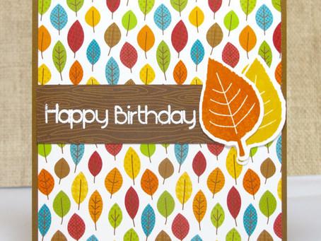Fall Leaves Birthday Card