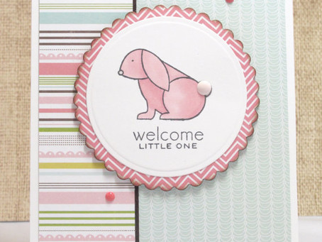 Welcome Little One Bunny Card