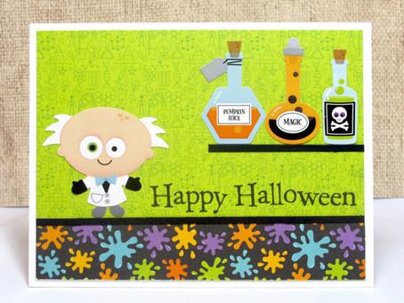 Mad Scientist Halloween Card
