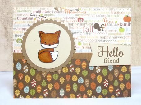Fall Hello Friend Card