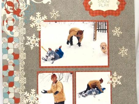Scrapbook Sunday: Snow Play