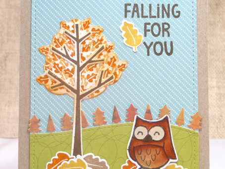 Falling For You Owl Card