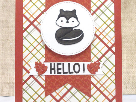Cute Hello Skunk Card