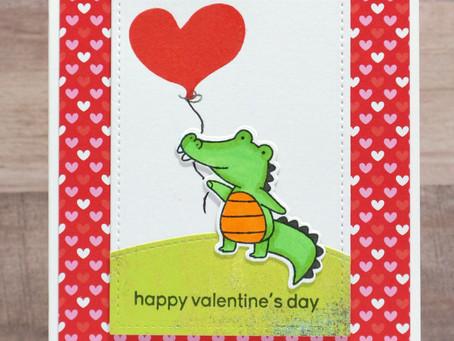Gator Valentine's Day Card