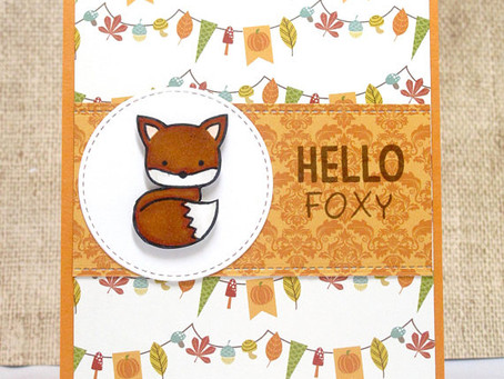 Hello Foxy Fall Card