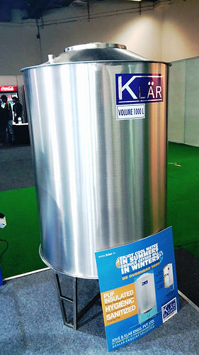 1000 L Stainless Steel Insulated Tank