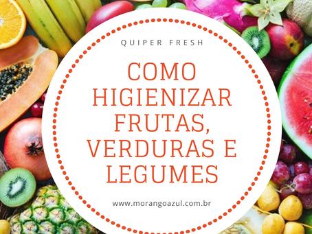 Como higienizar frutas, verduras e legumes.