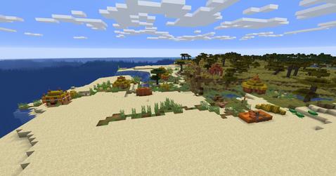 Savannah village at the beach