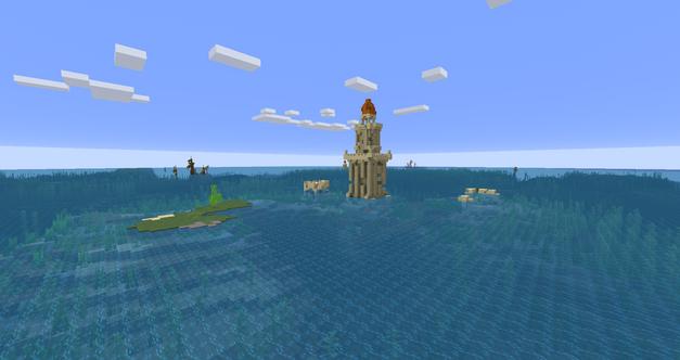 Warm ocean ruins