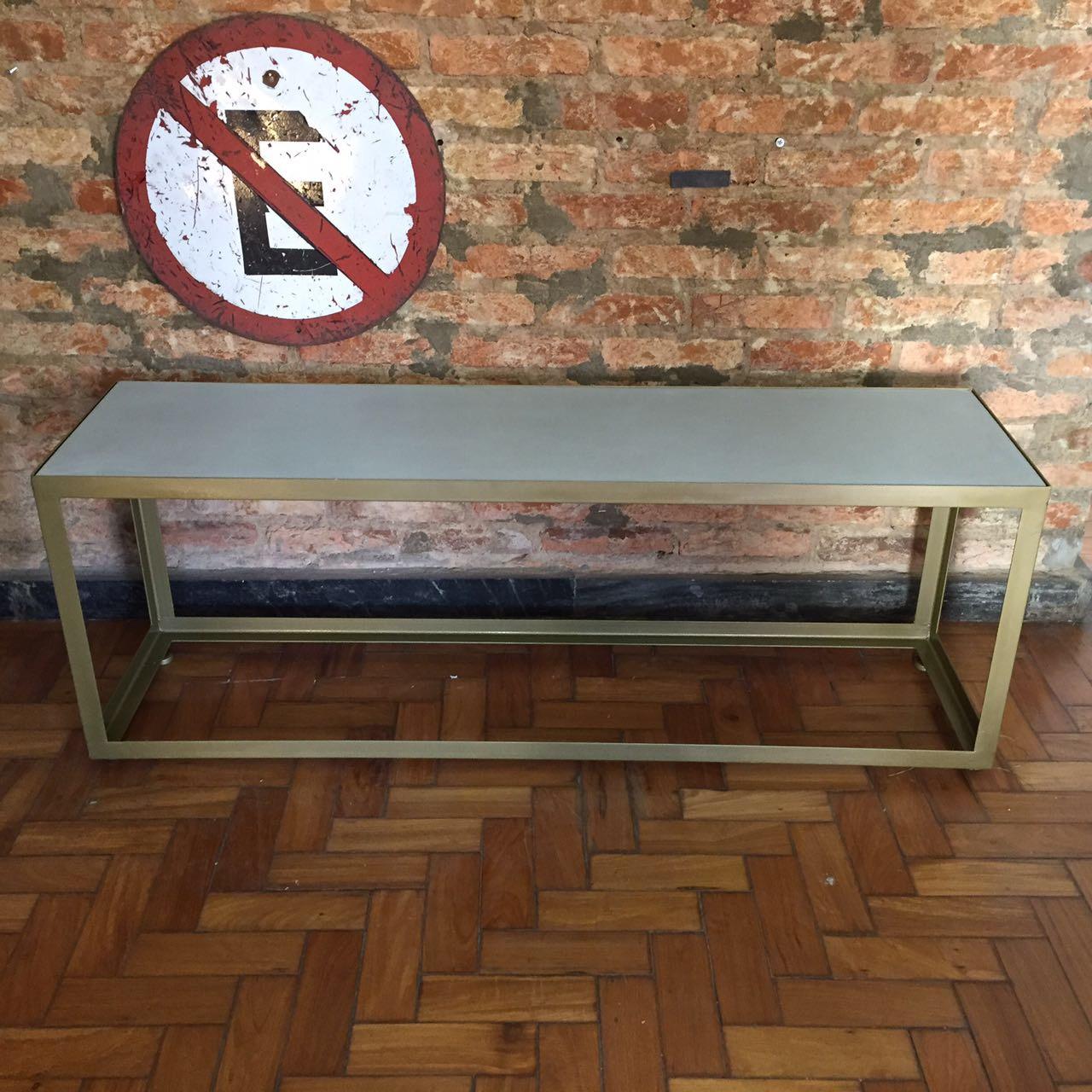 banco mesa de concreto