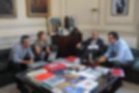 Reunión de los corrdinadores generales de Objetivo Tokio, Ayelén Stepnik y Diego Degano, con el Ministro de Educación de la Nación, Esteban Bullrich y el Secretario de Políticas Universitarias, Dr.Albor Cantard.