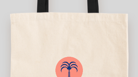 Palm Circle Press Tote Bag