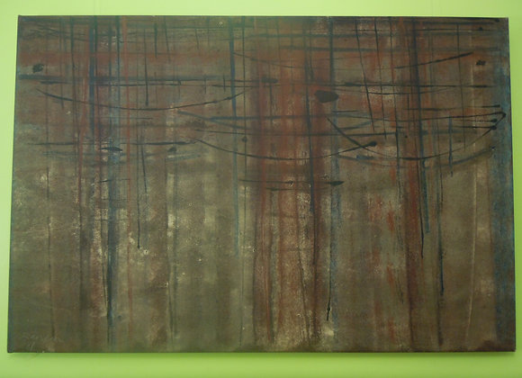 David Rankin, Monotype (1987), on Canvas, image size 100 x 150cm