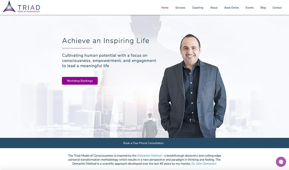Website design for life coach