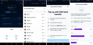 Buy crypto through the crypto.com app