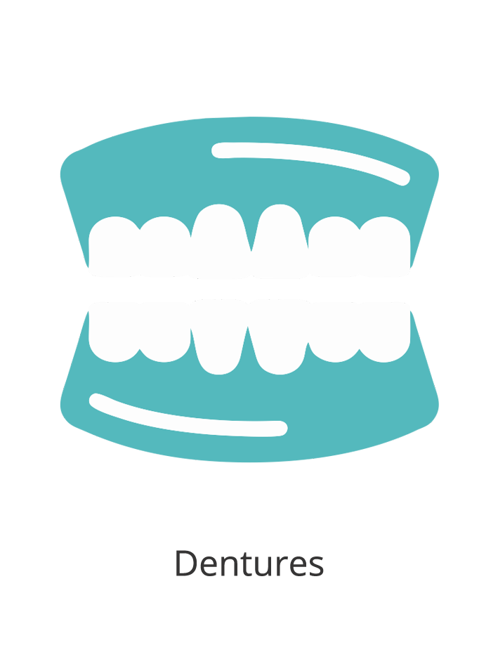 Replace missing teeth and improve your smile with dentures