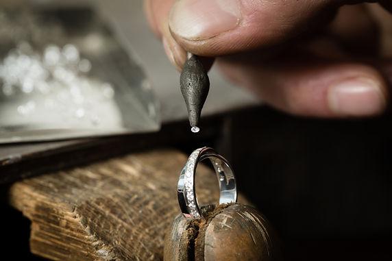 Craft jewelery making. Ring repairing. P