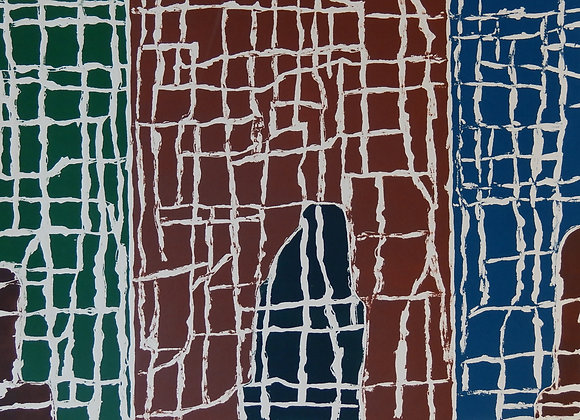 John Peart, Rhythms and Figures (1989) 1/20, Monotype, image size 40x 90cm