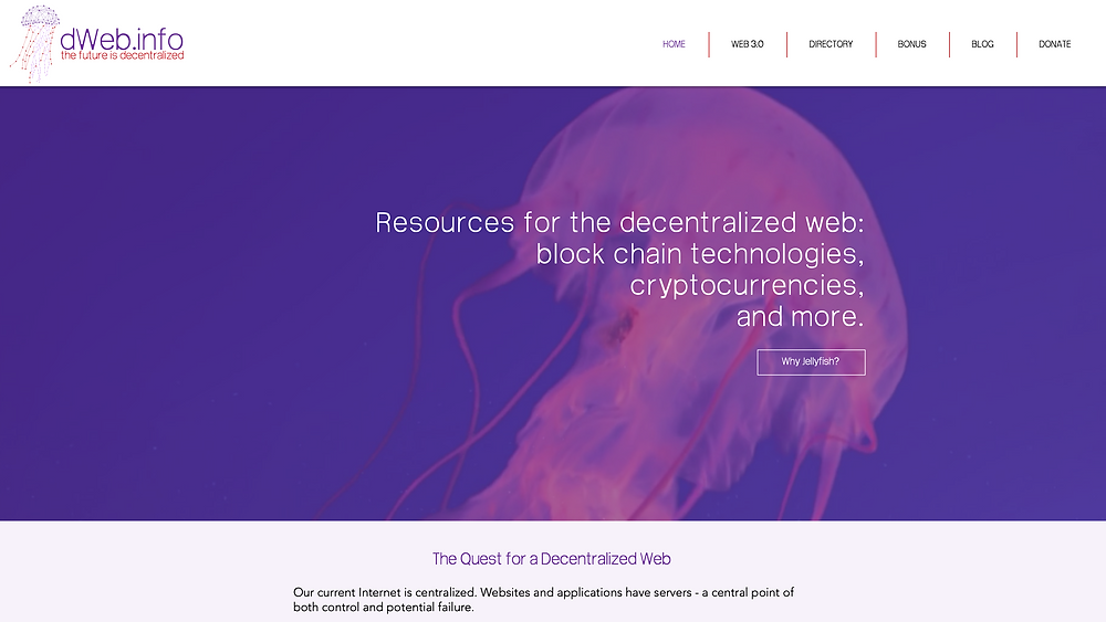 New website designs for the dWeb
