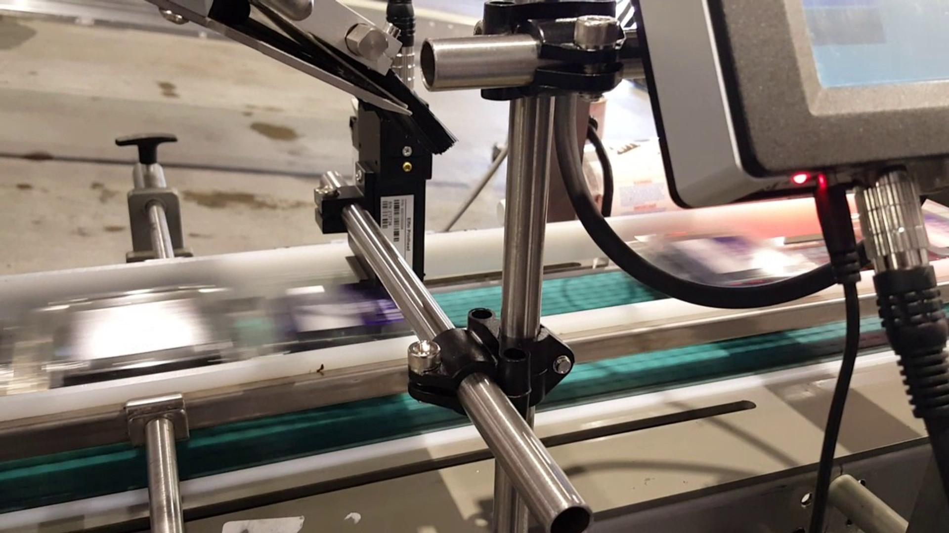 POLYtij S3 ®printer printing onto fruit PET clamshells