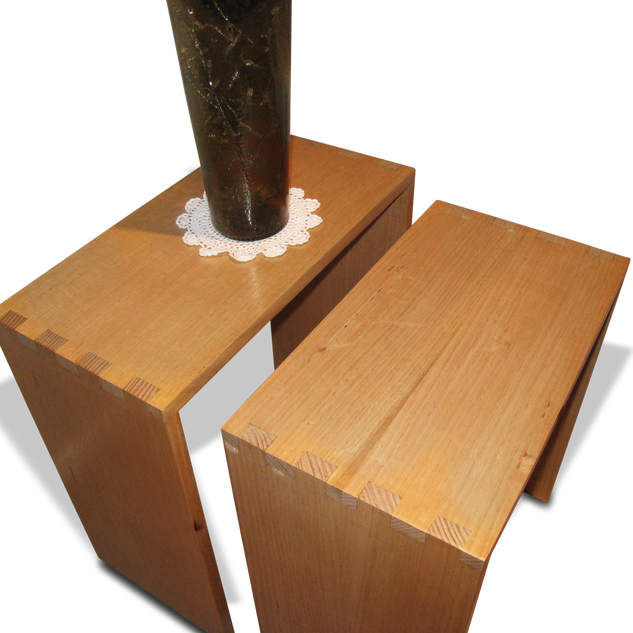 Boxtailed Tasmanian Oak Side Tables