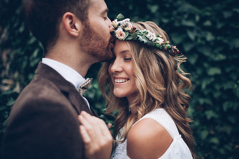 Amazing smiling wedding couple. Pretty b