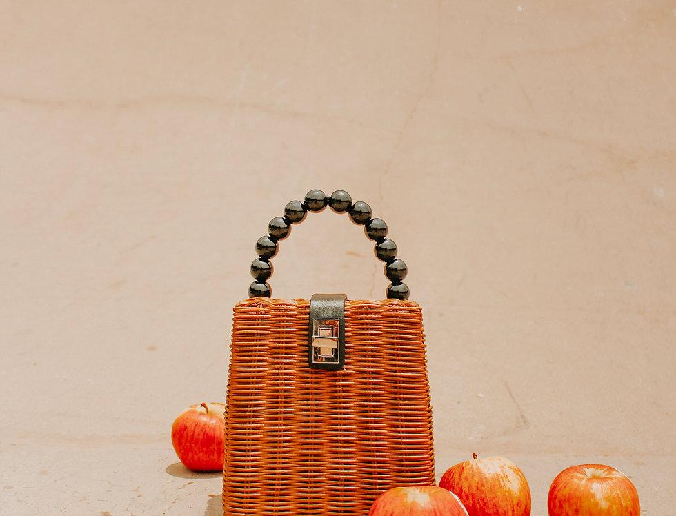 Winona Pearl Rattan Bag