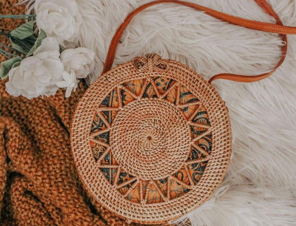 Beltaine Star Rattan Bag