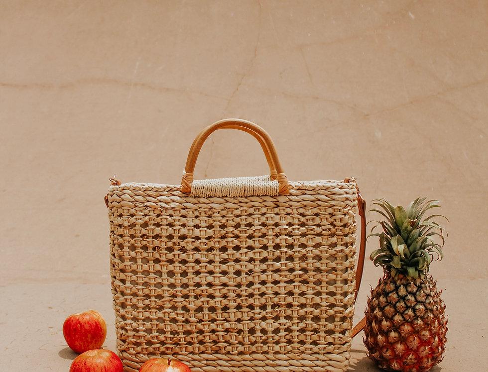 Lucilda Rattan Tassel Bag