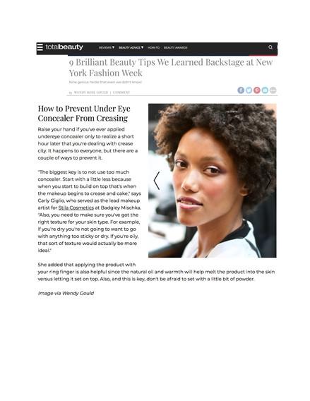 Total Beauty - Brilliant Beauty Tips NYFW