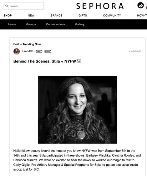 Sephora interview NYFW
