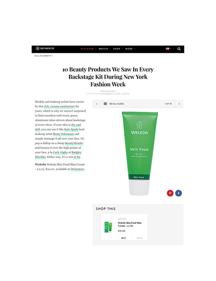 Refinery29 - Beauty Products NYFW