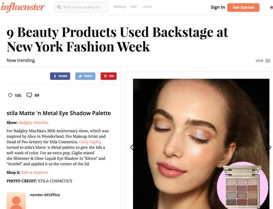 Influenster - Best Beauty Products NYFW