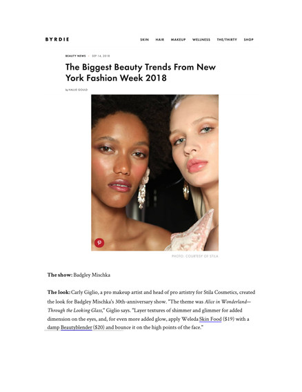 Byrdie Beauty - The biggest beauty trends NYFW