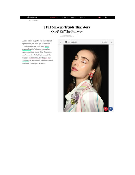 Refinery29 - Fall makeup trends