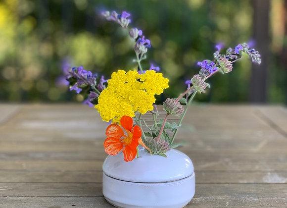Flower frog vase or garlic jar