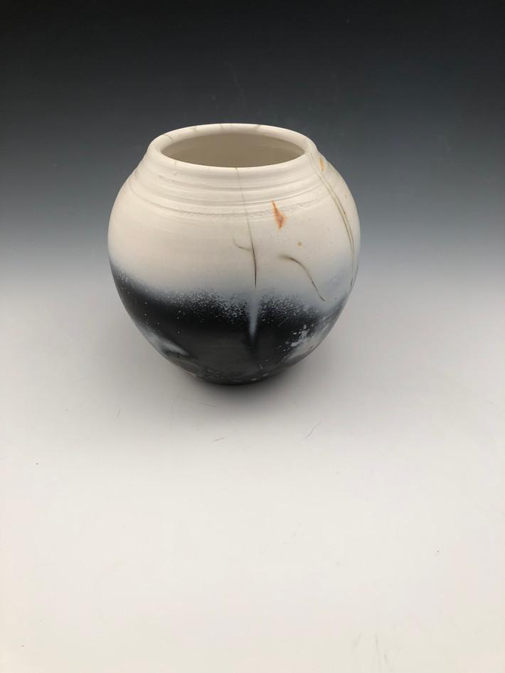 """Saggar fired vase 10"""""""